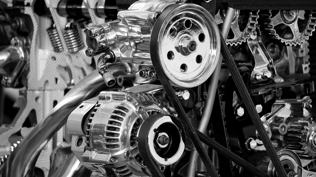 engrenagens de motor com lubrificante industrial