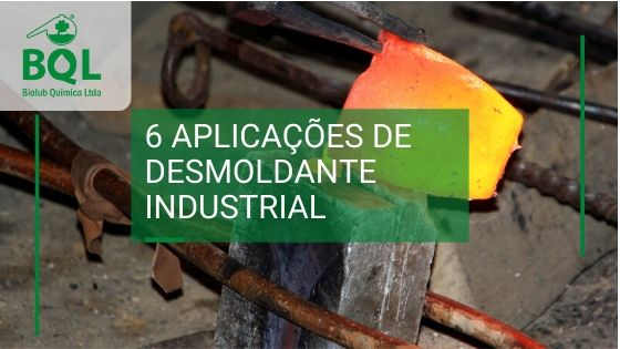 6 aplicações de desmoldante industrial